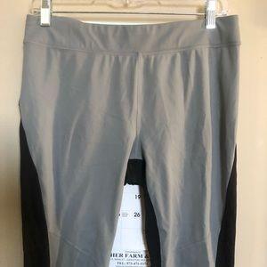 Athleta black/gray colorblock athletic pants med